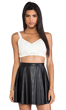 Style Stalker Engine Bustier Top in White