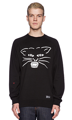 SSUR Move On Over Crewneck in Black
