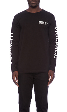 SSUR Anarchy Violence L/S Tee in Black