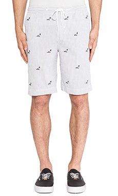 Staple All Over Pigeon Short in White