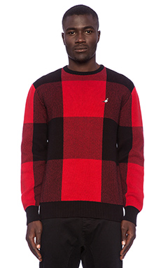 Staple Tartan Sweater in Red