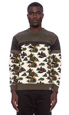 Staple Militech Crewneck in Olive
