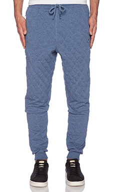 Staple Quilted Pigeon Sweatpant in Indigo