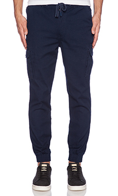 Staple Canvas Cuff Pants in Navy