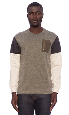 Staple Quantico L/S Knit in Olive