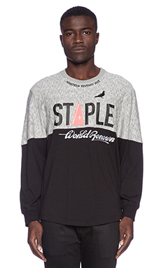 Staple Force L/S Tee in Black