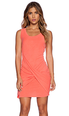 Stateside Twist Front Dress in Orange