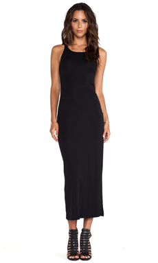 Stateside Rib Maxi Dress in Black