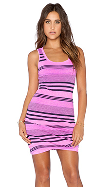 Stateside Navy Boy Stripe Mini Dress in Pink
