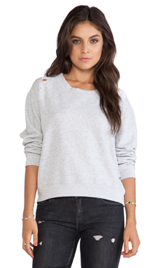 Stateside Distressed Sweatshirt in Heather Gray