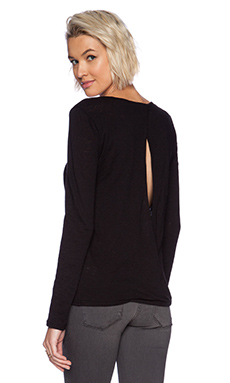 Stateside Open Back Long Sleeve Tee in Black