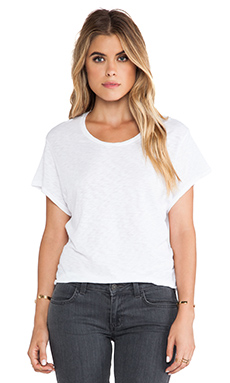 Stateside Crop Tee in White