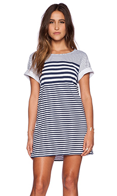State of Being Stripe Tee Dress in Navy & White