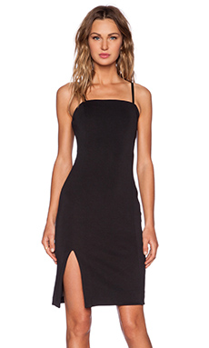 State of Being Scuba Midi Dress in Black
