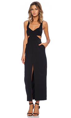 State of Being Cut Out Maxi Dress in Black
