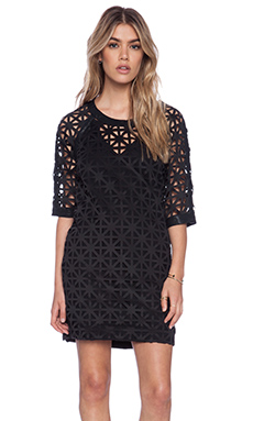 State of Being Mimosa Sweater Dress in Black