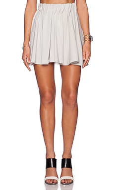 State of Being Tuck Waist Skater Skirt in Grey