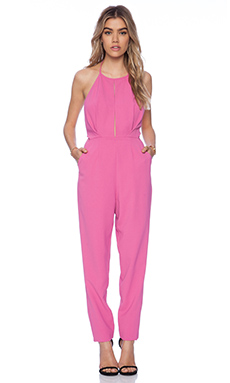 State of Being Halter Neck Jumpsuit in Fuchsia