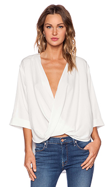 State of Being Pipe Drape Top in White