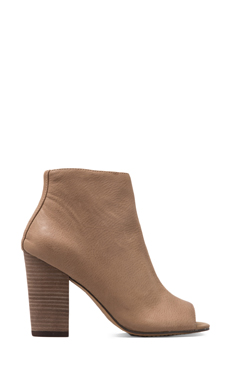 Steven Clara Bootie in Taupe Leather