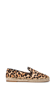 Steven Lanii Slip On with Calf Fur in Leopard