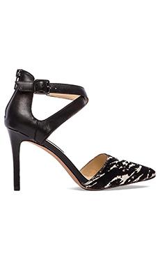 Steven Aliciaa Calf Hair Heel in Black & White