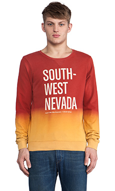 Scotch & Soda South Nevada Graphic Sweater in Red Rush