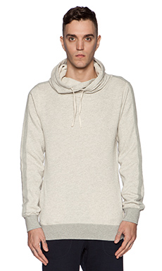 Scotch & Soda Home Alone Twisted Hoody in Grey Melange