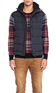 Scotch & Soda Quilted Vest in Navy