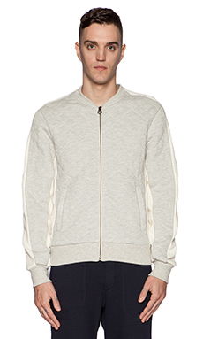 Scotch & Soda Home Alone Sweat Bomber in Stone Melange