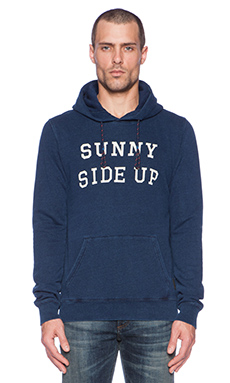 Scotch & Soda Hooded Sweat Blue and White Serie in Indigo