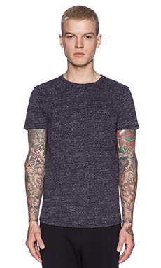 Scotch & Soda Knitted S/S Tee in Night Melange
