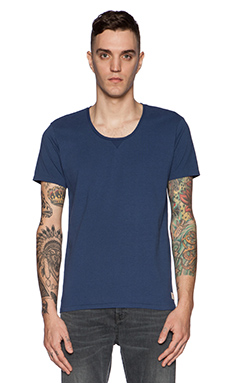 Scotch & Soda Home Alone Basic Tee in Cobalt