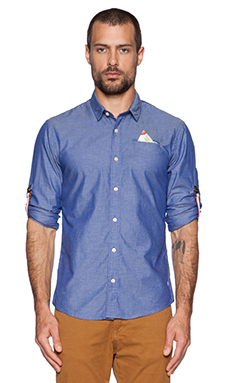 Scotch & Soda Fixed Pocket Shirt in Blue