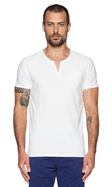 Scotch & Soda Shortsleeve Crewneck Tee in White