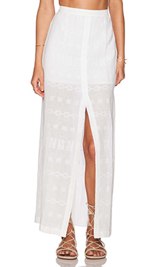 STELA 9 Riviera Maxi Skirt in Ivory