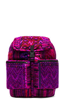 STELA 9 Santiago Patchwork Backpack in Magenta Magento
