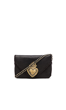 STELA 9 Corazon Crossbody in Black Negro