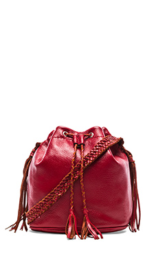 STELA 9 Quixote Small Bucket Bag in Red Rojo