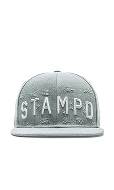 Stampd Distressed Stampd Hat in Light Indigo