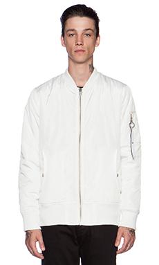 Stampd Flight Bomber Jacket in White