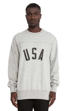 Stampd USA Crewneck in Heather Grey