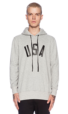 Stampd USA Hoodie in Heather Grey