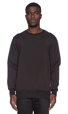 Stampd Perforated Neoprene Crewneck in Black