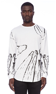 Stampd Glass L/S Tee in White