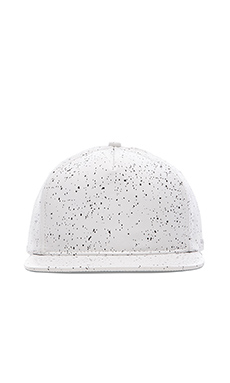 Stampd Leather Speckle Hat in White