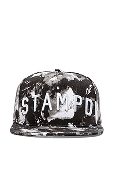 Stampd Blotch Print Hat in Black