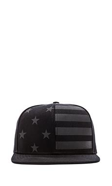 Stampd Flag 6 Panel Hat in Black
