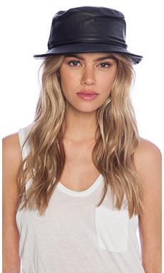 Stampd Lambskin Bucket Hat in Black