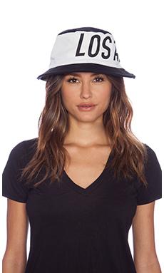 Stampd Big LA Colorblock Bucket Hat in Black/White